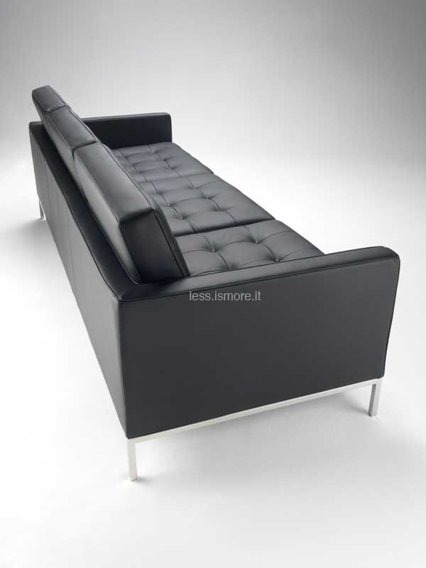 Divano sofa 3 posti florence knoll 1954 less is more - Divano florence knoll ...