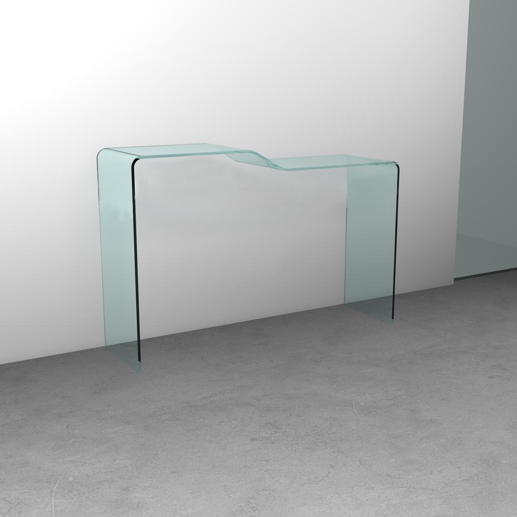 Consolle step in cristallo curvato trasparenze 100 - Mobili in cristallo ...