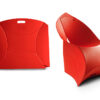 Dutch design - Sedia Flux rossa