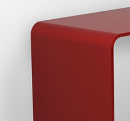 Consolle classic in cristallo curvato trasparenze 100 for Consolle di cristallo