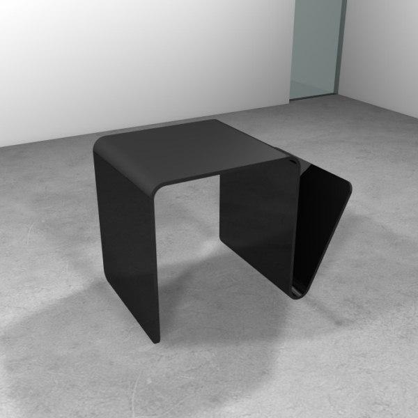 Tavolino turn mini con porta riviste trasparenze 100 - Tavolino porta microonde ...