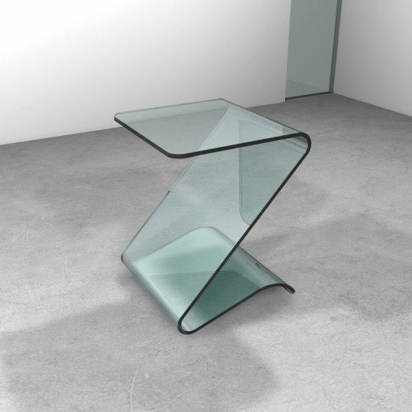 Tavolino in cristallo monolitico ZETA - Trasparenze, 100% Made in ...
