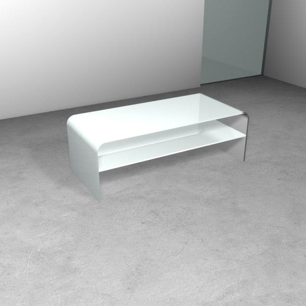 Tavolino BRIDGE con ripiano - Trasparenze, 100% made in Italy - Less ...