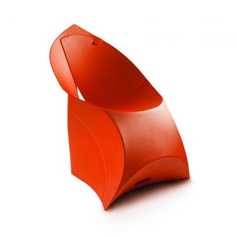 sedia flux in polipropilene rossa