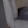 Dutchbone - Sedia Barbara in velluto poliestere grigia