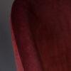 Dutchbone - Sedia Barbara in velluto poliestere rossa