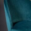 Dutchbone - Sedia Barbara in velluto poliestere turchese