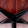Poltrona Eames in palissandro e pelle nera - Riedizione