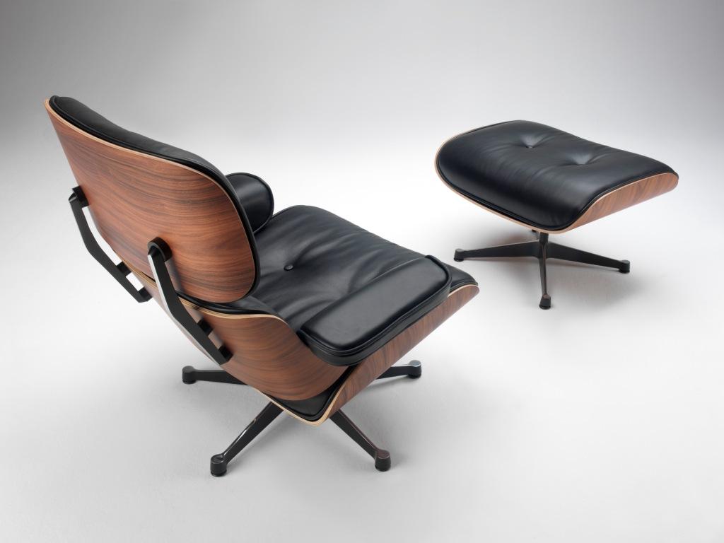 Poltrona charles eames con pouf lounge chair designperte