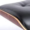 Ottomana Eames in palissandro e pelle nera - Riedizione